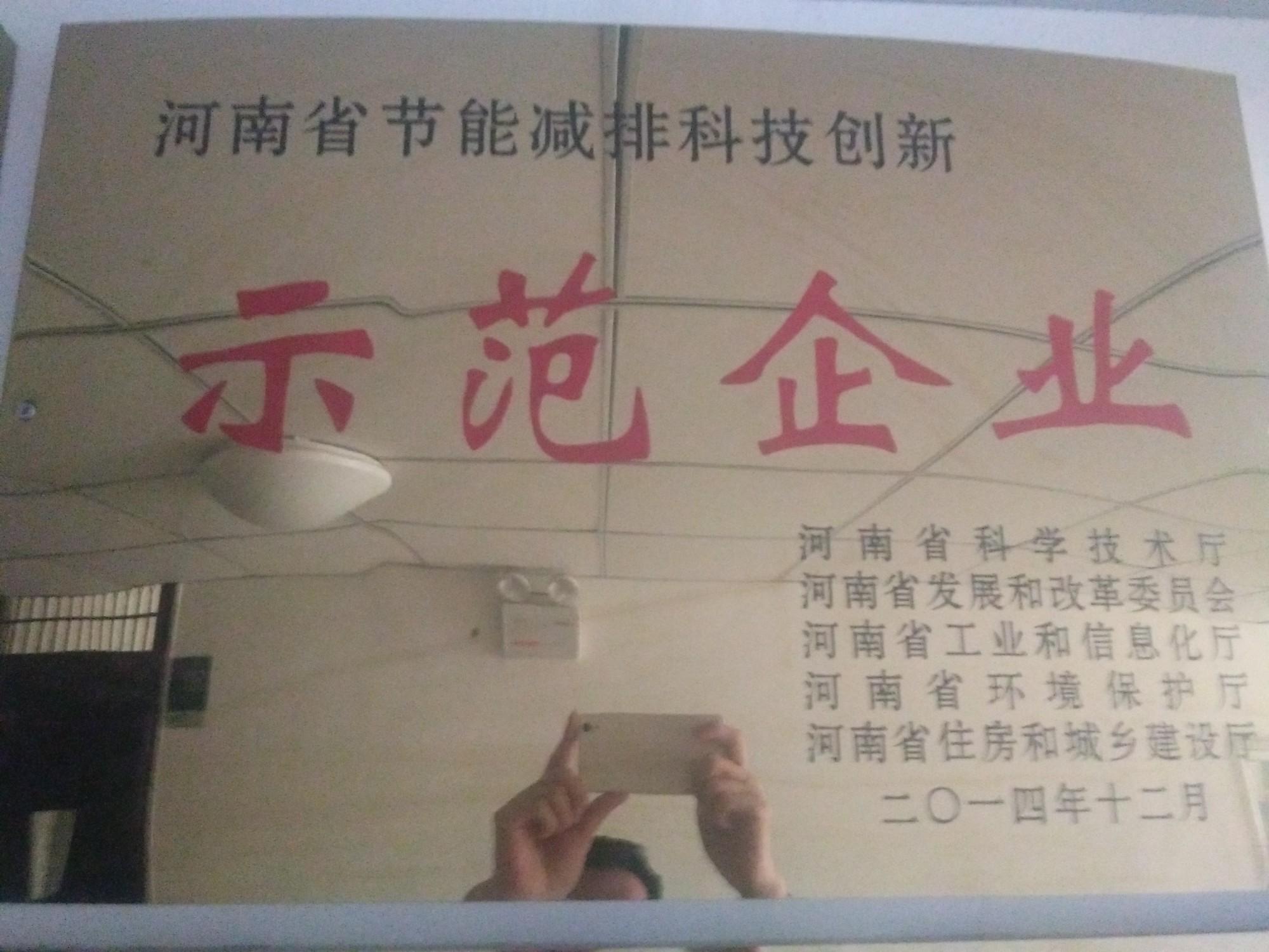 河南省节能减排示范企业